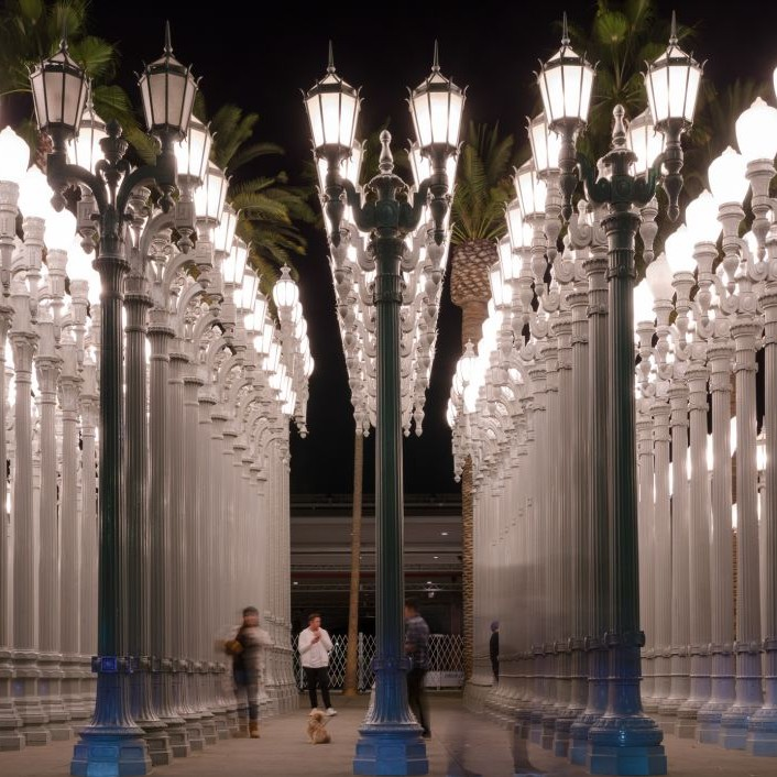 Urban Lights at the LACMA, Los Angeles, California © Clucian | Dreamstime 62133087
